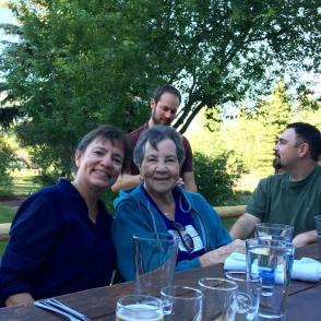 Kathi, Mom, David and Ryan