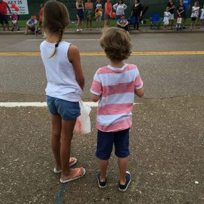 Waiting for the parade