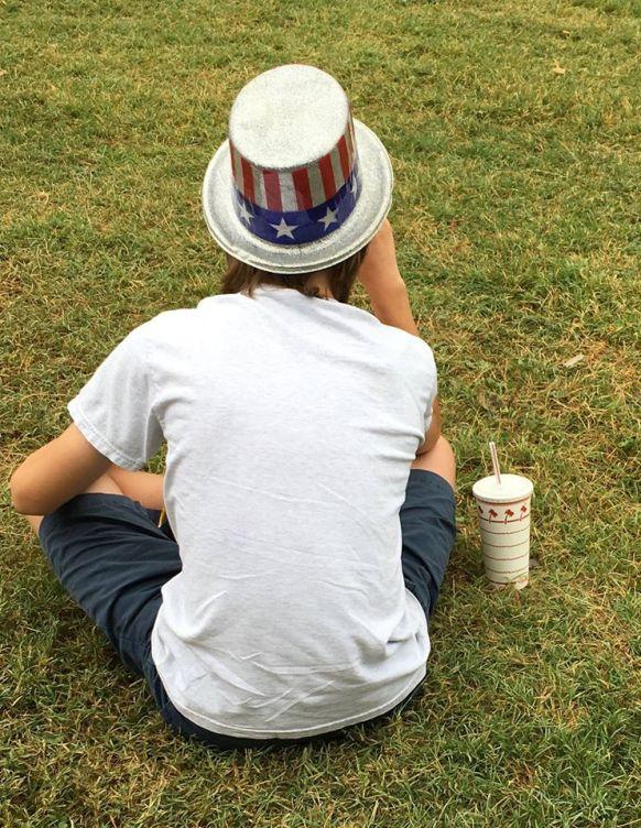 Teen in a hat