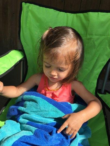 Ada soaks up the sunshine