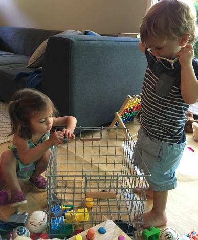 Cute littlest cousins Ada and Jack