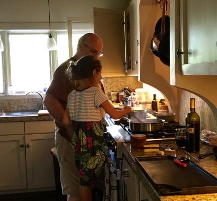 Junior Chef helping Grandpa
