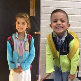 Emery 1st grade and Luke PreK