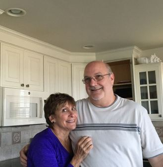 Denise's mom, Shirley, with Rich