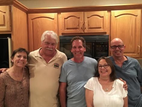My sister Kathi, cousins Dennis and Tim, brother Bill and me