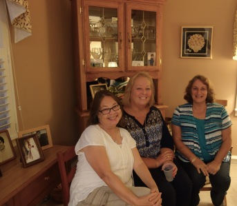 Jane, June, Sandy (June is married to my first cousin twice removed, Tom; Sandy is married to my first cousin once removed, Mike; Pratt side)
