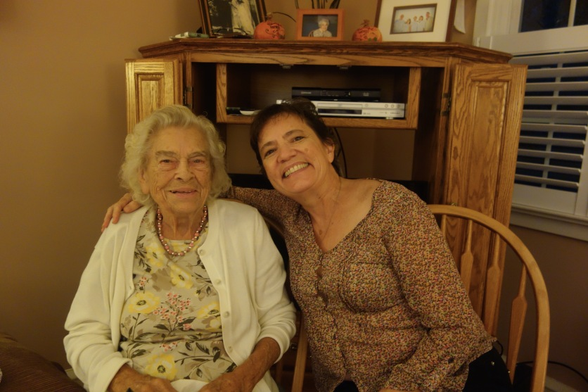 Aunt Mary (Rice side) and my sister Kathi