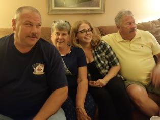 My cousin RuthAnn's son Richard, RuthAnn, Richard's daughter Sarah, RuthAnn's husband Rick, Rice side