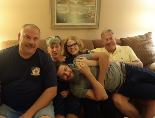 Richard, RuthAnn, Sarah, Rick, and Sarah's husband Kevin *expecting first baby in March, Rice side
