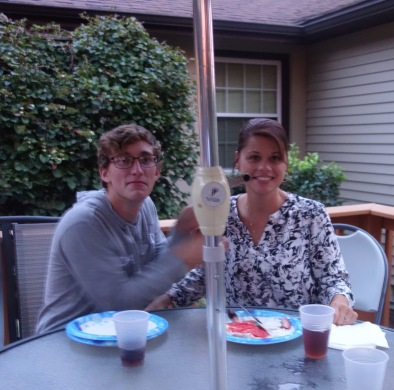 Cousin Tim's wife Brandi and their son Aaron, Rice side