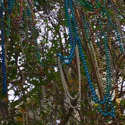 Tree full of beads