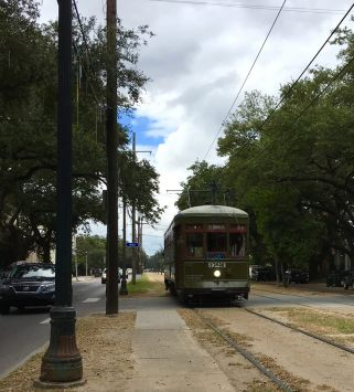 Here comes our trolley...St. Charles Line