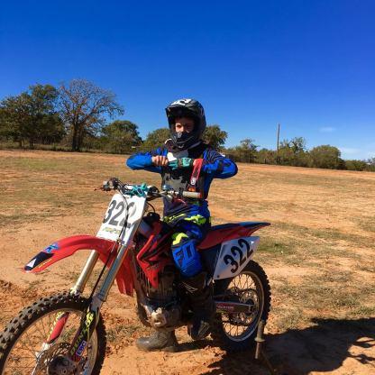 Aidan at the track