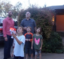 Paper airplane launcher--the look on their faces cracks me up