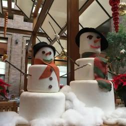 Marshmallow snow people