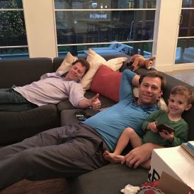 Nate, Miles and Jack relaxing