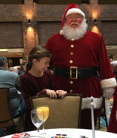 Elle and Santa