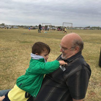 Soccer game with Luke