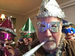 New Year's Eve shenanigans with Aidan and Ally