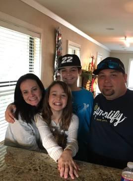 Susan, Ally, Aidan, Corey