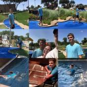 Miniature golf, swimming, Mexican Train