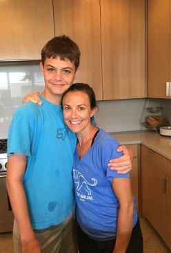 Aidan with Aunt Sarah