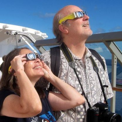 Somewhere on the Pacific getting ready for the total eclipse of the sun