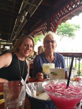 Kaci and Karen at dinner