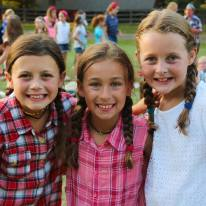 Elle with camp friends