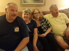 Cousin Ruth Ann 2nd from left, with her husband Rick on the end, their son Richard, and Richard's daughter Sarah