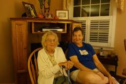 Aunt Mary and my mom