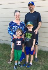 Nephew Ryan, wife Vicki and sons Alden and Asher