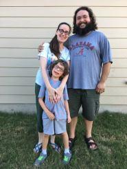 Niece Alana, husband Paul and Oren