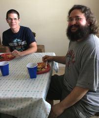 Rachel's husband Greg and Alana's husband Paul