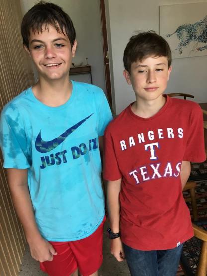Aidan and Weston