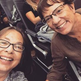 Kathi and me on the plane