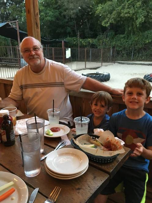 Grandpa with Jack and Beck