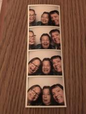 """After the movie, we took pix in a photo booth. It said it took cash or credit but we couldn't find the slot for cash. Finally asked a teen working at the theater and he said """"it's in the seat."""" Of course Mom and Kathi were already sitting on the seat! We cracked up pretty hard at that. Then the kid said, quite incredulously, """"You're all going to fit in there??"""" LOL YES we are!"""