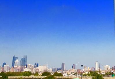 Philadelphia from the car