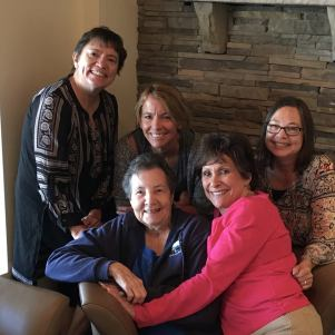 Pedicures with Mom, Kathi, Denise, and Denise's mom, then out to lunch