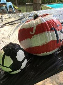 Soccer ball and soccer jersey