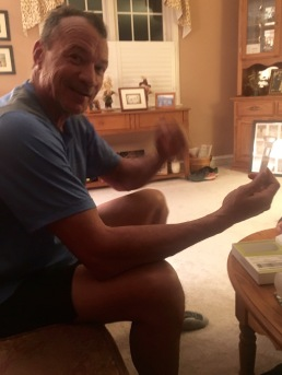 Joe with his DNA tube