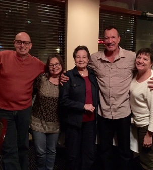 My youngest brother Bill, me, brother Joe, sister Kathi