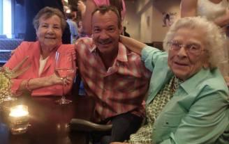 Mom, my brother Joe and my Aunt Mary, Jackson Hole