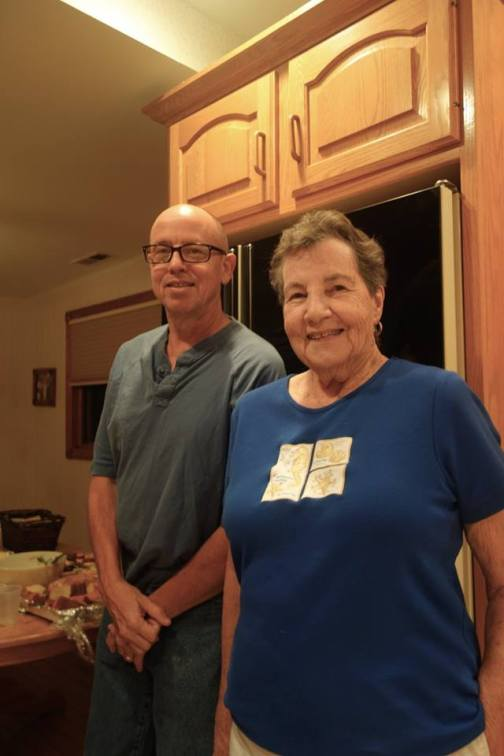 Mom and my brother Bill, NJ