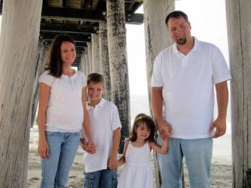The family at the Jersey shore