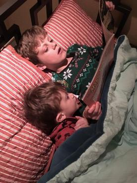 Beck is so sweet to read to Jack at night