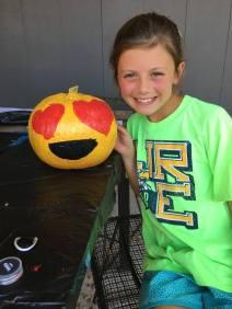 Painting pumpkins