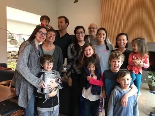 Group shot at Sarah and Miles' house