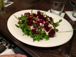 Kathi's beet salad, which I won't eat because I think beets taste like dirt